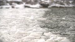 IceBerg MeltingIce GeorgianBay Winter Waves SuperSlowMotion 240FPS 1080HD 1 Stock Footage