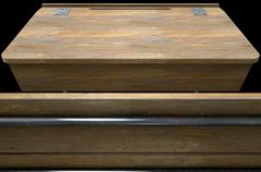 Vintage Wooden School Desk Closeup - stock illustration