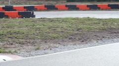 Go kart outdoor race Stock Footage