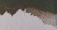 IceBerg MeltingIce GeorgianBay Drone Aerial WaterAndIce 4K - stock footage