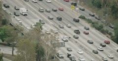 WS AERIAL View of road junction with traffic Stock Footage