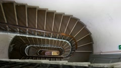 Internal stairs old building Stock Footage