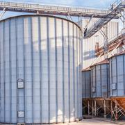 Storage facility cereals, and biogas production Stock Photos