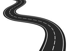 Asphalt Road - stock illustration