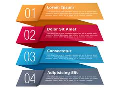 Four Steps Infographics Piirros