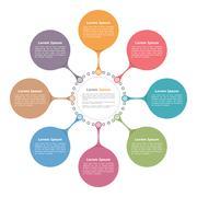 Circle Diagram Template - stock illustration