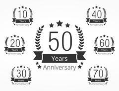 Anniversary Emblems Stock Illustration