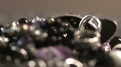 Women's jewelry products Stock Footage