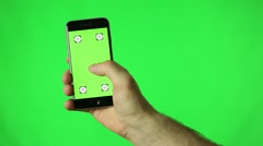 Touchscreen tap green key Stock Footage
