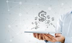 Earn your money online - stock photo