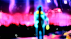 Dance,  blurred, disco,  abstract background Stock Footage