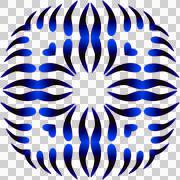 Blue, dark blue, aggressive pattern on a transparent background. - stock illustration