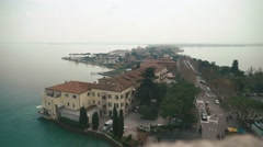 Top view on the landscape of lake Garda, Italy Stock Footage