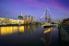 Puerto Madero at the Night, Buenos Aires, Argentina - stock photo