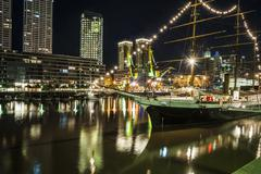 Puerto Madero at the Night, Buenos Aires, Argentina Stock Photos