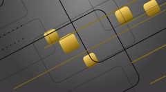 4k Gold Digital Design on Gray Background Animation Seamless Loop. Stock Footage