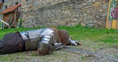 Killing a knight - stock footage