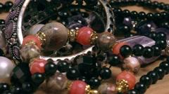 Various jewellery Stock Footage