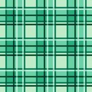 Emerald hues seamless checkered pattern - stock illustration