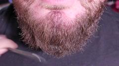 Beard anc comb, 4K UHD Stock Footage