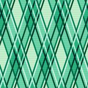 Emerald hues seamless rhombic pattern Stock Illustration