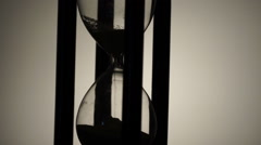 Rotating sand-glass. Contour. Close-up Stock Footage