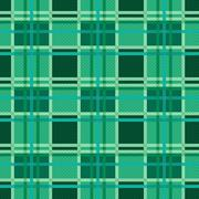 Seamless checkered pattern in Emerald - stock illustration