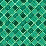 Seamless diagonal pattern in Emerald - stock illustration
