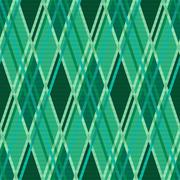 Seamless rhombic pattern in Emerald - stock illustration