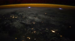 Planet Earth at night seen from the the International Space Station ISS. Stock Footage