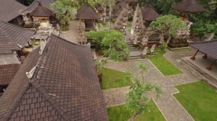 Flight Over the Tample on Bali Island Stock Footage