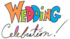 Wedding celebration message Stock Illustration