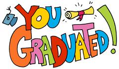 You graduated message Stock Illustration
