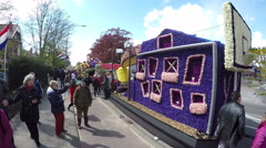 Flower Parade - Netherlands Stock Footage