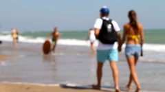 Leisure, Skimboarding, coast, sports, Stock Footage
