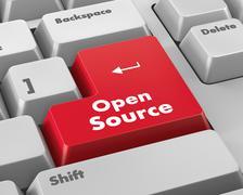 open source keyboard button - stock illustration
