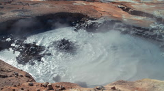 Namafjall hot spring fumarole volcanic field 09 - stock footage