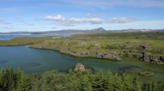 Lake Myvatn in Iceland 03 Stock Footage