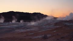 Namafjall hot spring fumarole volcanic field 05 Stock Footage