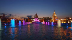 Show colored fountains Stock Footage