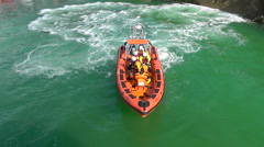 Newquay Lifeboats Training, Newquay, Cornwall, UK - stock footage