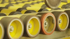 Conveyor Line For Cutting Glass - stock footage