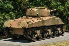 Tank Sherman M4A4 - stock photo