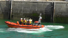 Newquay Lifeboats Training, Newquay, Cornwall, UK Stock Footage