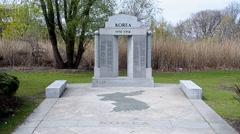 Korean War Memorial in Boston, USA. Stock Footage