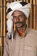 Portrait of local man with turban. Stock Photos
