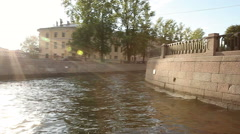 View from water to the belltower of the St. Nikola of the Sea cathedral Stock Footage