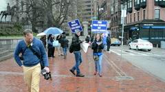 PBS public schools members meeting in Boston, USA. Stock Footage