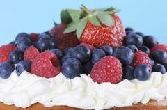 Triple layer sponge cake - stock photo