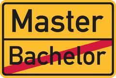 Bachelor finished - start master - stock illustration